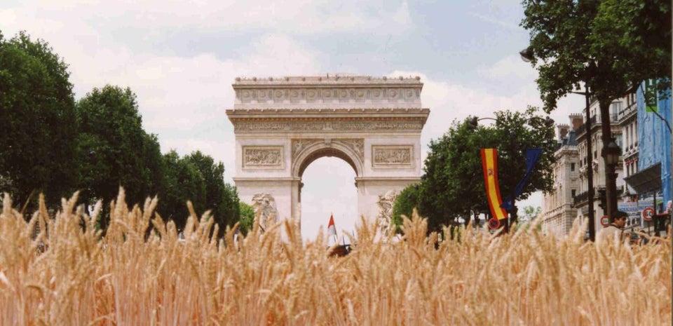 Graan op de Champs-Élysées