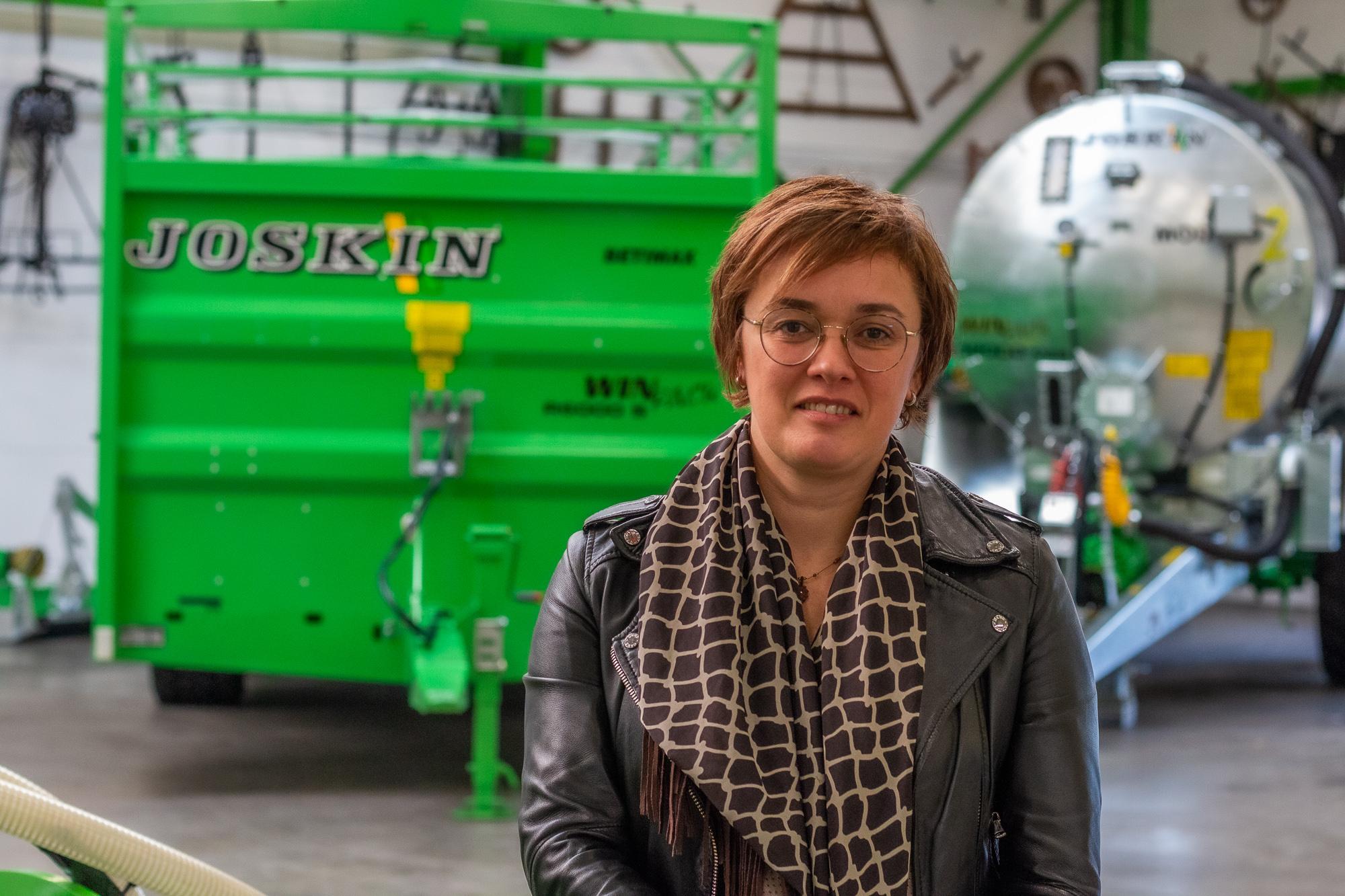 """Vrouw in de landbouw – Murielle Jokin: """"Vrouwen steeds talrijker bij JOSKIN!"""""""