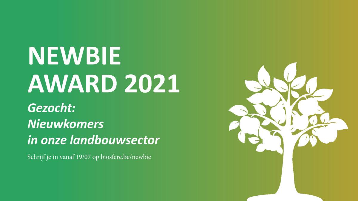 Schrijf je in voor de NEWBIE Award